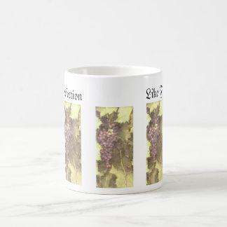 Adorno de la uva… taza de café