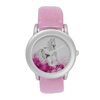 adorno de lujo del caballo, reloj con