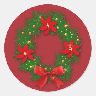 Adorno de Navidad -Calcomanía Pegatina Redonda