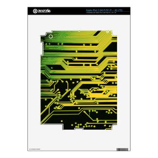 adorno del circuito electrónico iPad 3 pegatinas skins