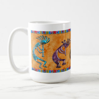 Adorno del nativo americano de Kokopelli 3D Anasaz Tazas De Café