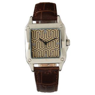 Adorno egipcio de Deco - caramelo y marrón Reloj