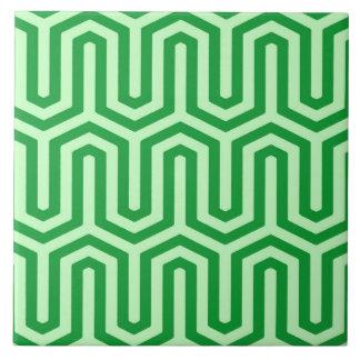 Adorno egipcio de Deco - verde de jade Azulejo Cuadrado Grande