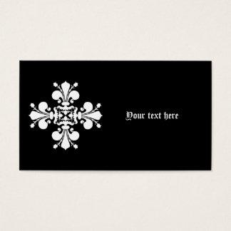 Adorno elegante blanco del damasco tarjeta de negocios