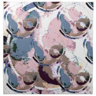 Adorno en colores pastel de la fruta (collage) servilleta de papel