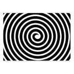 Adorno espiral - blanco y negro plantilla de tarjeta de visita