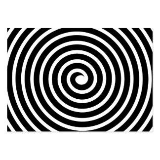 Adorno espiral - blanco y negro tarjetas de visita grandes