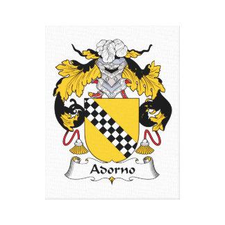 Adorno Family Crest Canvas Print