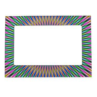 Adorno floral del marco magnético en color marcos magnéticos de fotos