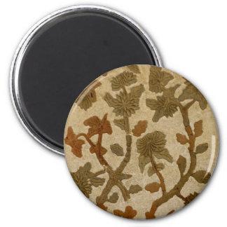 Adorno floral imán redondo 5 cm