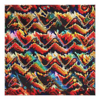 Adorno geométrico colorido perfect poster