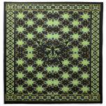 Adorno geométrico verde de la mariposa servilleta imprimida