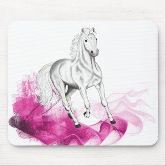 adorno hermoso del caballo, cojín de ratón alfombrilla de raton