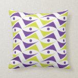 Adorno moderno púrpura y el Chartreuse| de color v Almohadas