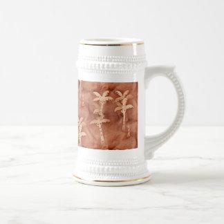 Adorno monocromático de la palmera del teñido jarra de cerveza