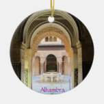 Adorno, Patio de los Leones, Alhambra, Granada. Adorno Navideño Redondo De Cerámica