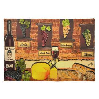 Adorno Placemat del vino del viñedo de Beko Manteles