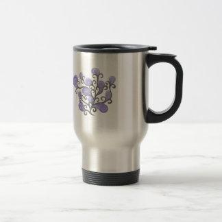 Adorno púrpura de la flor del brote taza de viaje