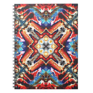 Adorno tribal colorido libretas espirales