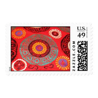 Adorno turco antiguo del estampado de flores de la sello
