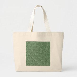 Adorno verde de la hoja bolsas de mano
