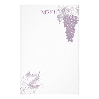 Adornos de la uva papelería de diseño