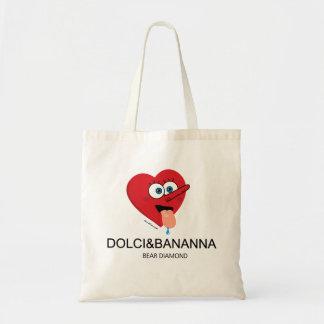 """Adoro il Dolci"" bag Bolsa Tela Barata"