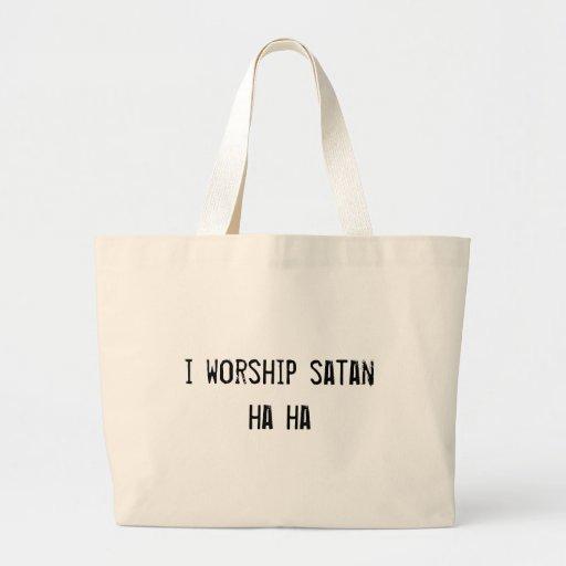 adoro la ha satan ha bolsa tela grande