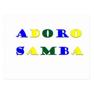 Adoro Samba Postcard