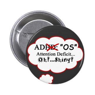 ADOS Shirt Pinback Button