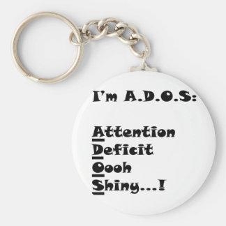 ADOSRectangle Basic Round Button Keychain