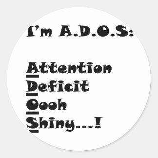ADOSRectangle Classic Round Sticker