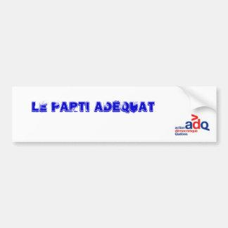 adq logotipo, el partido Adecuado Pegatina Para Auto