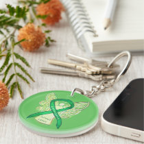 Adrenal Cancer Angel Awareness Ribbon Keychains
