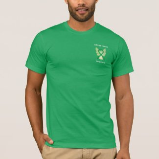 Adrenal Cancer Awareness Green Ribbon Angel Tee