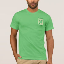 Adrenal Cancer Awareness Green Ribbon Angel Tee
