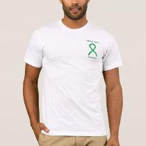 Adrenal Cancer Awareness Green Ribbon Custom Tee