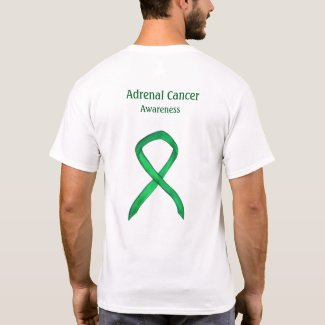 Adrenal Cancer Awareness Green Ribbon Shirt