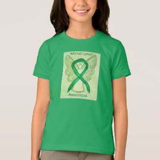 Adrenal Cancer Awareness Ribbon Angel Art Shirt