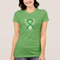 Adrenal Cancer Awareness Ribbon Angel Art Shirt