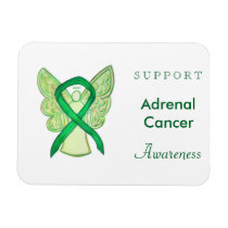 Adrenal Cancer Awareness Ribbon Angel Magnets