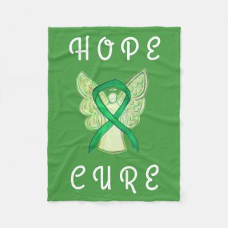 Adrenal Cancer Awareness Ribbon Angel Soft Blanket
