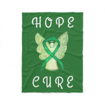 Adrenal Cancer Awareness Ribbon Angel Soft Blanket