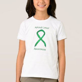 Adrenal Cancer Awareness Ribbon Custom Art Shirt