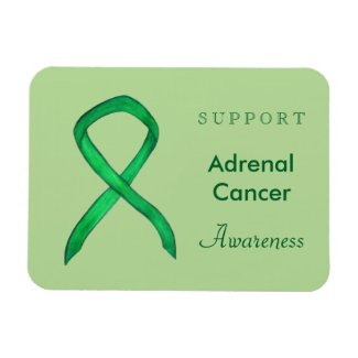 Adrenal Cancer Awareness Ribbon Custom Magnets