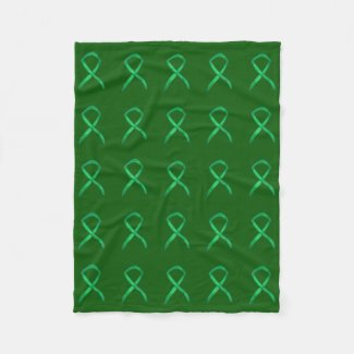 Adrenal Cancer Awareness Ribbon Fleece Blanket