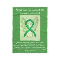 Adrenal Cancer Awareness Ribbon Fleece Blanket