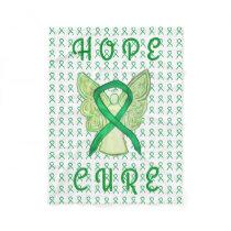 Adrenal Cancer Awareness Ribbon Fleece Blankets