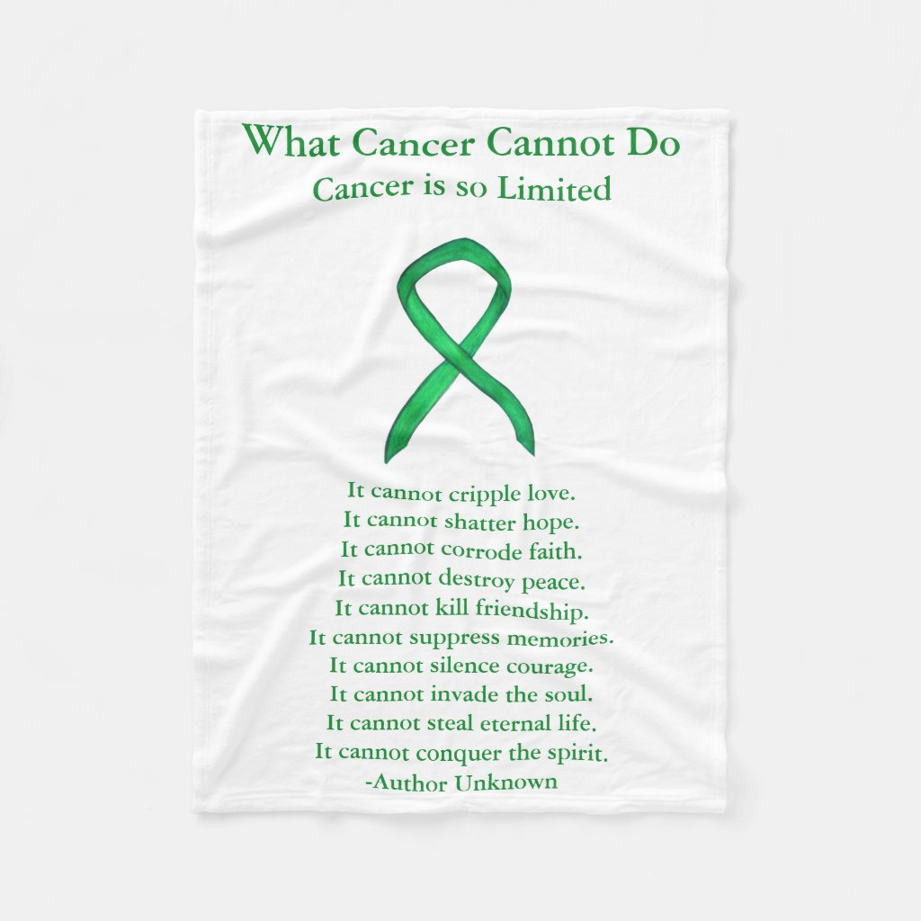 Adrenal Cancer Awareness Ribbon Soft Chemo Blanket