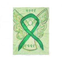Adrenal Cancer Awareness Ribbon Soft Chemo Blanket